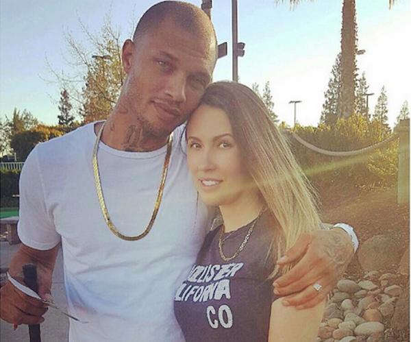 O modelo Jeremy Meeks com a ex-esposa (Foto: Instagram)