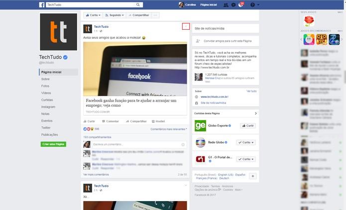 Tutorial Facebook-1  (Foto: Reprodução/Carolina Ochsendorf         )