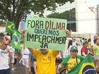 Grupos da região de Ribeirão Preto protestam por impeachment de Dilma