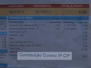 Novo valor do Custo de Iluminação Pública começou a valer em setembro (Foto: Reprodução/TV Tem)