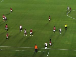 Atlético-GO x Oeste no Serra Dourada (Foto: Reprodução/Premiere)