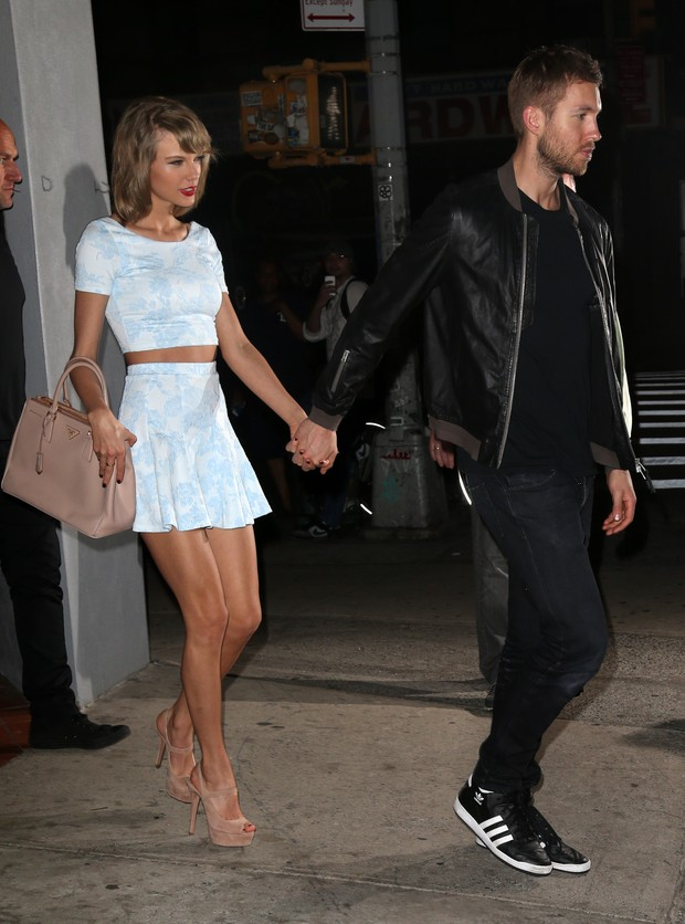 Taylor Swift e Calvin Harris (Foto: Grosby Group)