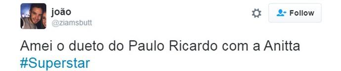 tweet anitta paulo ricardo (Foto:  Reprodução/Internet)