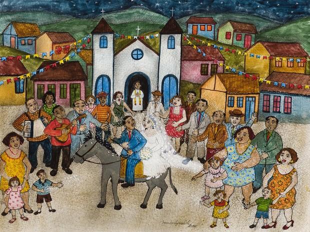 Obra 'Chuva de Arroz', de Vanice Ayres - Piracicaba (Foto: Acervo / Sesc Piracicaba)
