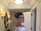 Casamento Eri Johnson: vestido da noiva teve renda de Kate Middleton