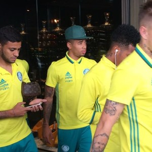 Elenco Palmeiras Belo Horizonte (Foto: Felipe Zito)