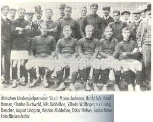 Dinamarca foi vice-campeã olímpica em 1908 (Foto: Acervo / IFFHS)