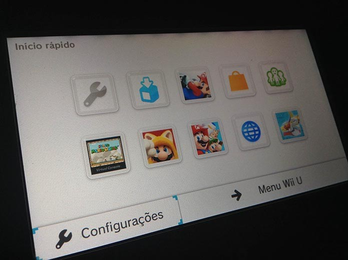 Wii U: como configurar o novo menu de início rápido (Foto: Reprodução/Murilo Molina)