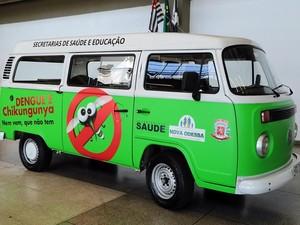 Nova Odessa usa Kombi para combater a dengue no município (Foto: Osnei Restio)
