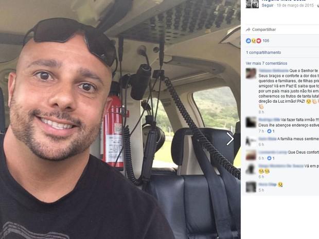 Em rede social, amigos e familiares deixaram mensagens de apoio a família (Foto: Reprodução / Facebook)
