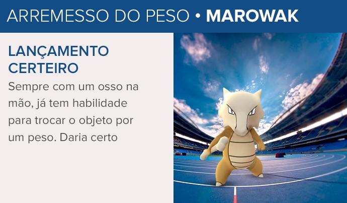 CARTELA - Pokemon GO Arremesso de peso (Foto: Editoria de Arte)