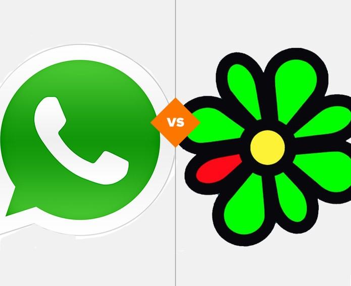 Whatsapp ou ICQ? Quem vence a batalha? (Foto: Arte/TechTudo)