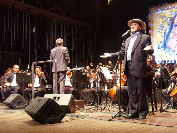 Lançamento do DVD Cantata Gonzagueana aconteceu no Theatro 4 de Setembro (Foto: Gleyca Oliveira/Arquivo Pessoal)