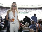 Fiorella Matheis assiste a final feminina em Wimbledon