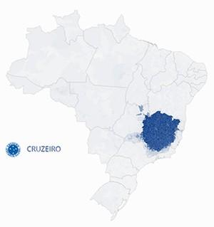 Mapa Cruzeiro (Foto: GloboEsporte.com)