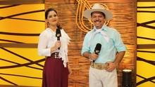 Neto e Shana recebem atrações na beira da praia de Capão da Canoa (Nice Sordi/RBS TV)