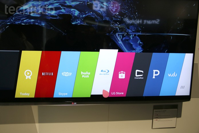 Novo sistema WebOS deixa as SmartTVs muito mais rápidas (Foto: Fabricio Vitorino/ TechTudo)