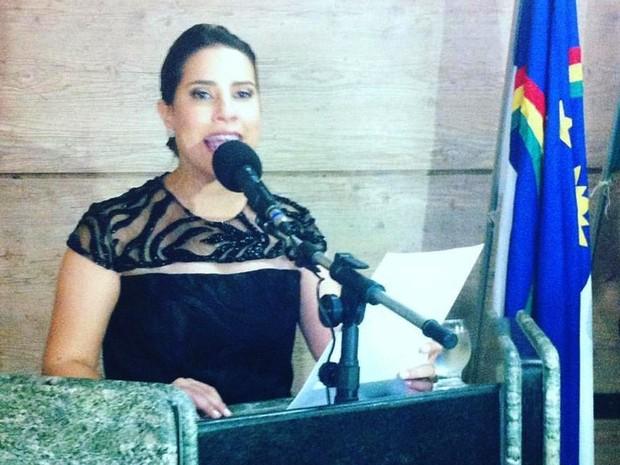 Raquel Lyra é empossada na Câmara de Vereadores de Caruaru (Foto: Reprodução/Facebook)