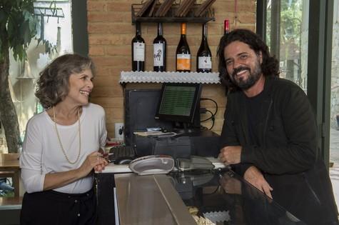 Irene Ravache e Felipe Camargo (Foto: Estevam Avellar/ TV Globo)