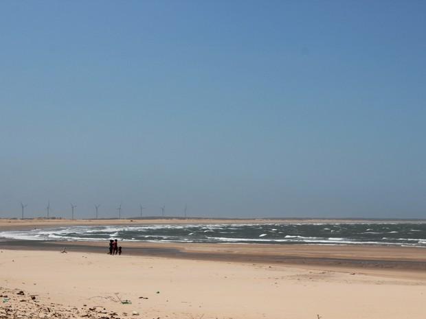 Pedra do Sal tem aproximadamente oito quilômetros de extensão (Foto: Patrícia Andrade/G1)