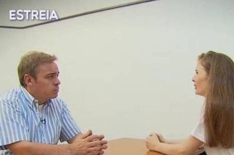 Gugu entrevista Suzane von Richthofen (Foto: Reprodução)