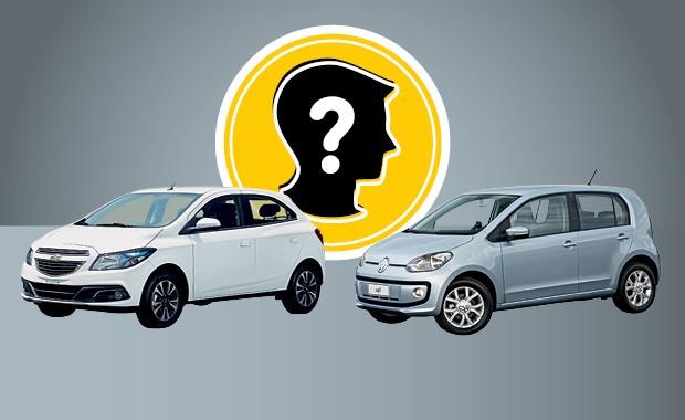 Que carro eu compro Chevrolet Onix e Volkswagen up! (Foto: Autoesporte)