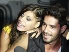 'Alegrinha', Franciele deixa festa e segue para boate com Diego