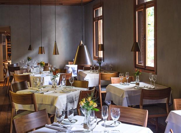 O salão do Pomodori, que fica no Itaim Bibi (São Paulo). A casa foi totalmente reformada quando Tássia comprou o restaurante, em 2014 (Foto: Rogério Voltan / Editora Globo)