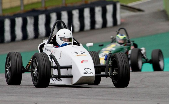 Kenner Garcia piloto Uberlândia Fórmula Vee (Foto: Kenner Garcia/Arquivo Pessoal)