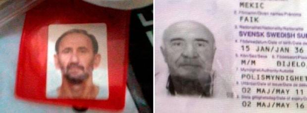 Croata Ante Stanic, de 57 anos, e o sueco Faik Mekic, de 78 anos (Foto: Reprodução/Inter TV Cabugi)