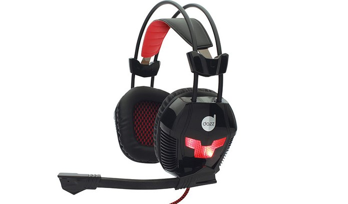 Headset da Dazz vem com conchas almofadadas e hastes ajustáveis (Foto: Divulgação/Dazz)