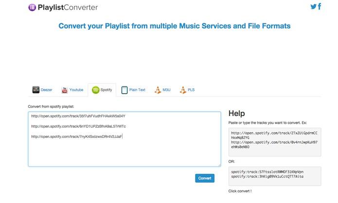 Playlist Converter: leve qualquer playlist de música para Spotify e