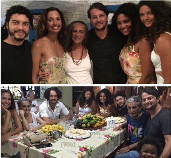 Marcelo Serrado aparece com Camila Pitanga e Rodrigo Santoro na casa de Dona Canô, Caetano Veloso e Maria Bethânia, na Bahia (Foto: Reprodução do Instagram)