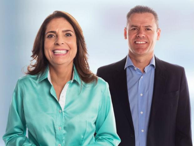 Chapa eleita para comandar a reitoria da UnB, formada pelos professores Márcia Abrahão e Enrique Huelva (Foto: UnB/Reprodução)