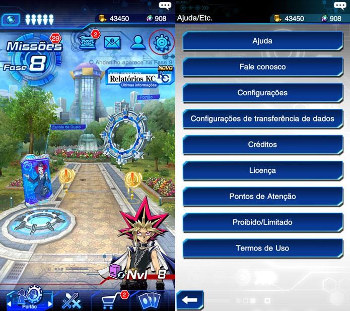 Como transferir sua conta em Yu-Gi-Oh! Duel Links para Android e iOS (Foto: Reprodução/Tais Carvalho)
