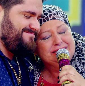 Fã com câncer emociona César Menotti e Fabiano (Esquenta!/TV Globo)