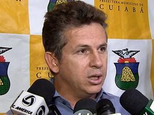 Prefeito Mauro Mendes decidiu não aumentar IPTU em Cuiabá (Foto: Reprodução/TVCA)