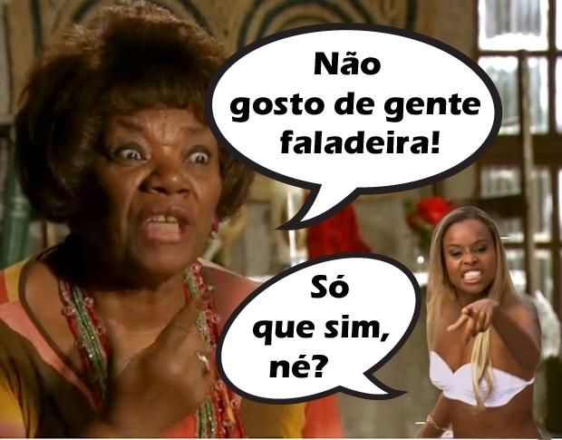 Diva: fala muito!  (Foto: Salve Jorge / TV Globo)