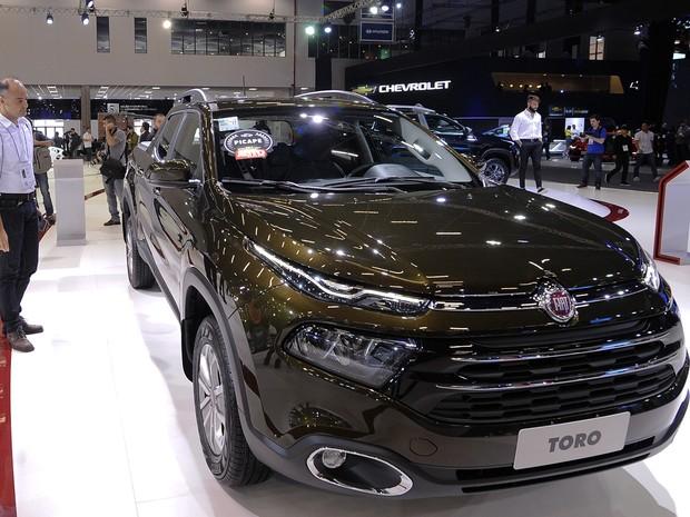 A caminhonete Fiat Toro é apresentado no Salão do Automóvel de São Paulo 2016 (Foto: Alan Morici/G1)