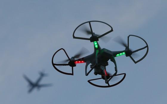 Drone voando em Nova York, EUA (Foto: Bruce Bennett/Getty Images)