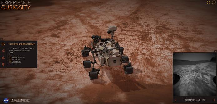 Experience Curiosity é um simulador bem interessante (Foto: Reprodução/Aline Jesus)