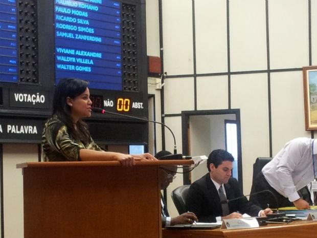 Vereadora Viviane Alexandre apresentou projeto por criação de comissão em defesa dos animais (Foto: Rodolfo Tiengo/G1)