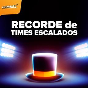 Cartola recorde de times escalados card