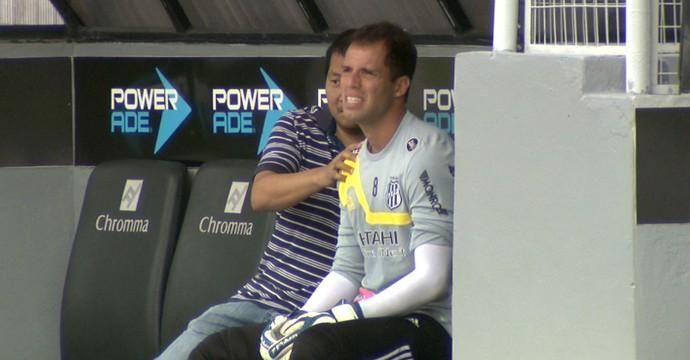 Marcelo Lomba, goleiro da Ponte (Foto: Carlos Velardi/ EPTV)