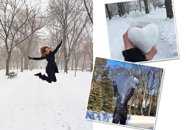 Gisele brincando na neve (Foto: Reprodução/Instagram)