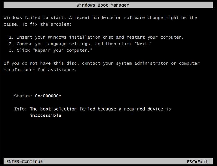 Estalos do HD ao ligar o computador e mensagens de erro de inicialização (boot) atestam que o disco está detonado (Foto: Reprodução/Filipe Garrett)