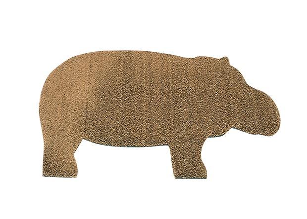 Capacho Hippo, de PVC, 1,45 x 0,69 m. Design de Ed Annink para a Droog. Decameron, R$ 999 (Foto: Carlos Cubi, Editora Globo e Divulgação)