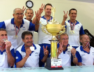 Bocha Aruja ouro Jogos Abertos (Foto: Divulgação / Prefeitura de Arujá)