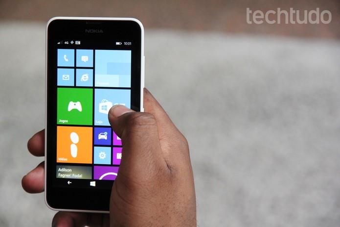 Lumia 635, smartphone com 4G e Windows Phone 8.1 (Foto: Tainah Tavares/TechTudo)