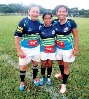As atletas do Acre, Kelly Guerra (à esquerda) e Larissa Moura (à direita), representarão o time rondoniense Banzeiros (Foto: Kelly Guerra/Arquivo Pessoal)